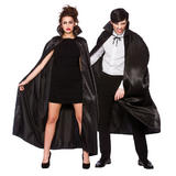 Adults Deluxe Satin Cape W/ Collar for Superhero Villian Super Hero Fancy Dress