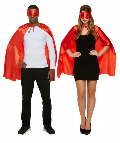 Mens Ladies Instant Fancy Dress Up Set Adult Accessory for Superhero Fancy Dress
