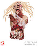 WOMAN BUST WITH HAIR AND GAUZE 77 cm Torso SFX for Limb Body Part Cosmetics