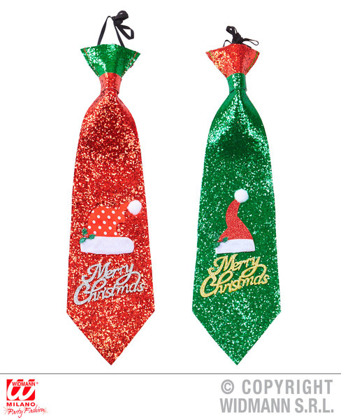 GLITTER SANTA HAT TIE RED / GREEN SFX for Father Christmas Cosmetics