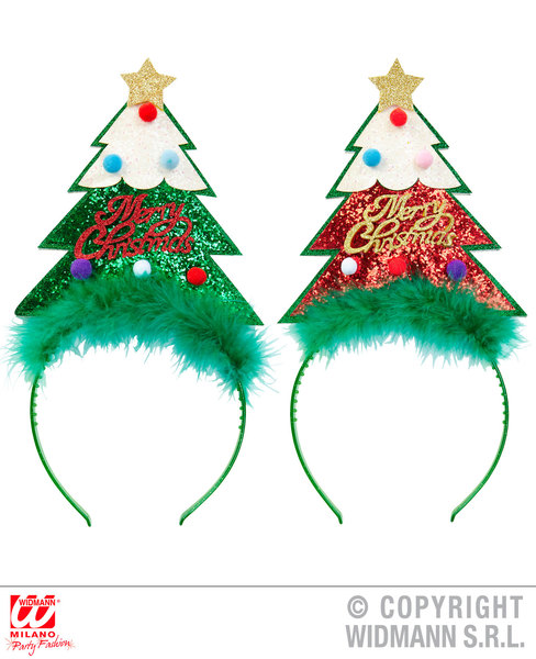 HEAD BOPPER - 1 of 2 colors ass GLITTER CHRISTMAS TREE SFX for Festive Xmas Nati