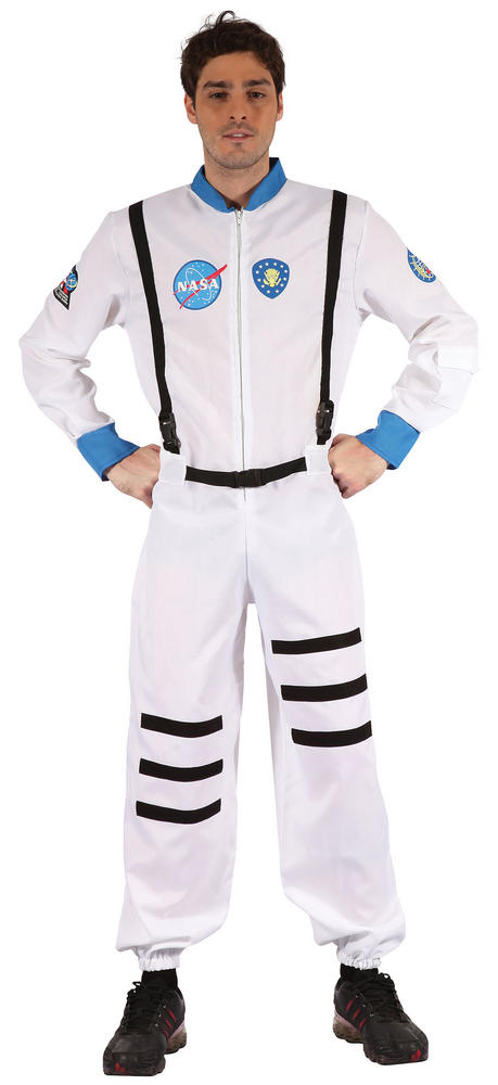Mens Astronaut (Male) Costume NASA Space Pilot Fancy Dress Outfit