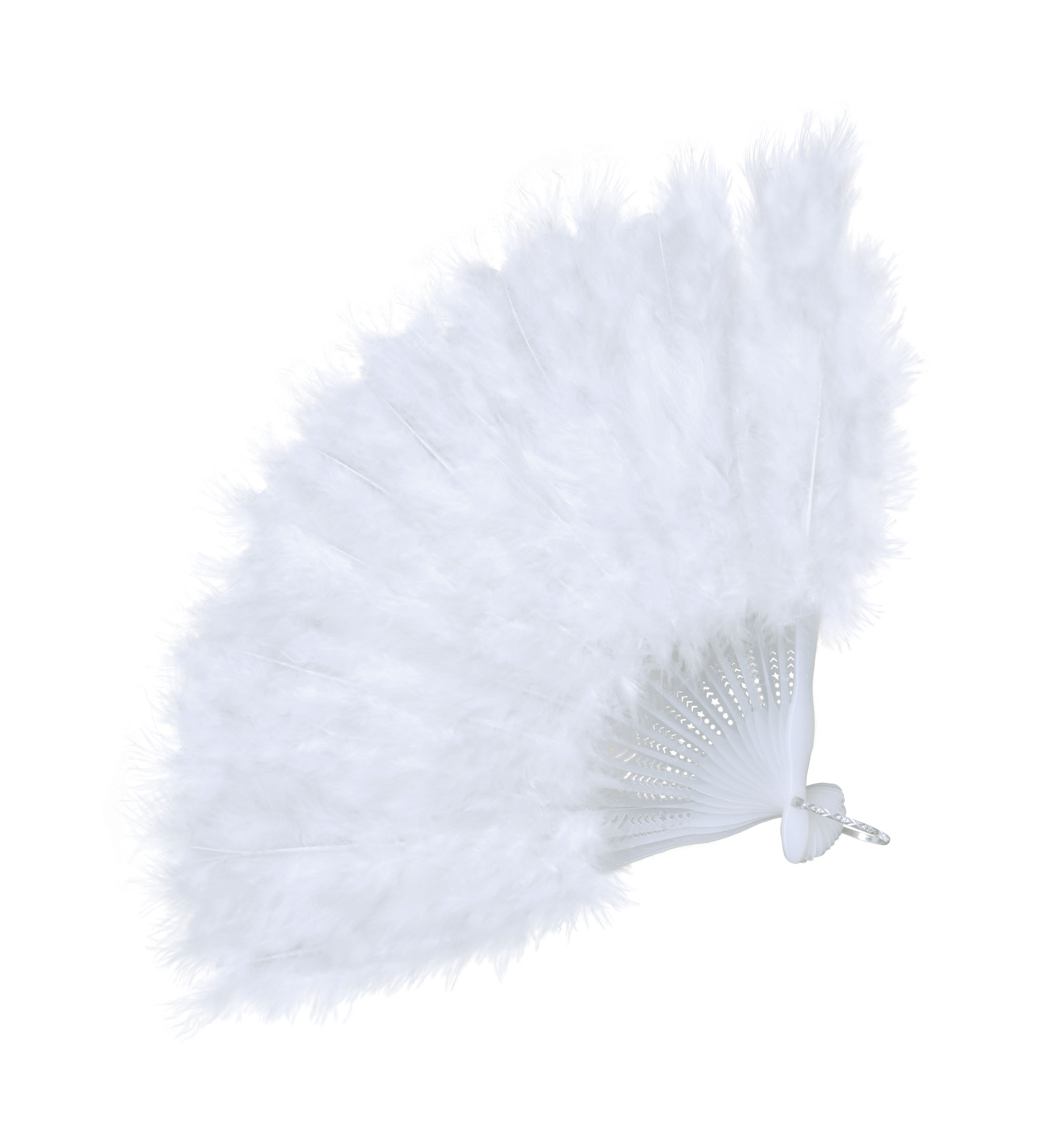 Baroque Feather Fan (Budget) Moulin Rouge Can Can French Fancy Dress Party