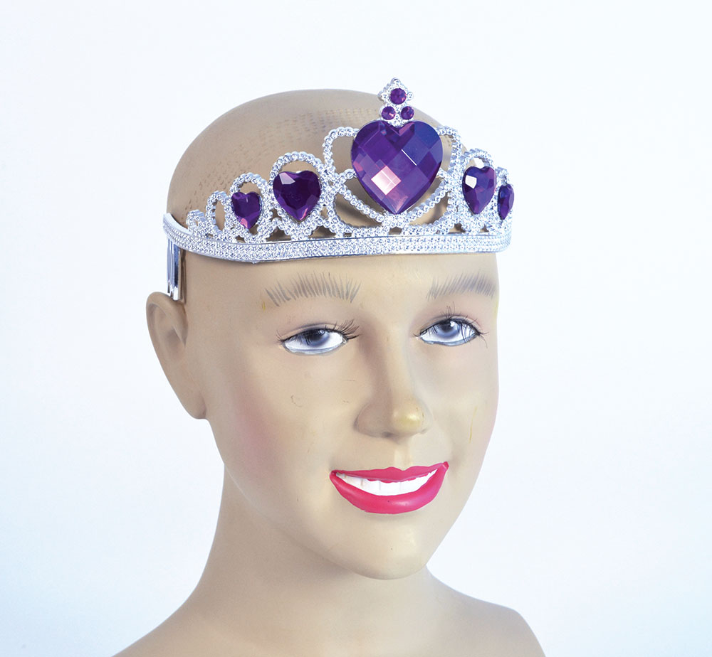 Tiara Silver Plastic Princess Fairy Queen Fancy Dress Accessory