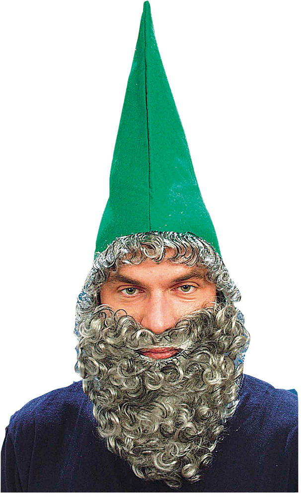 Dwarf Hat Green + Beard Midget Elf Umpa Lumpa Orc Goblin Fancy Dress Accessory