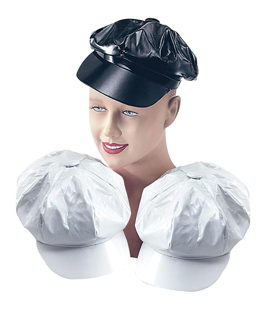 Shiny 60s PVC Hat 60s Rock n Roll Fancy Dress Accessory