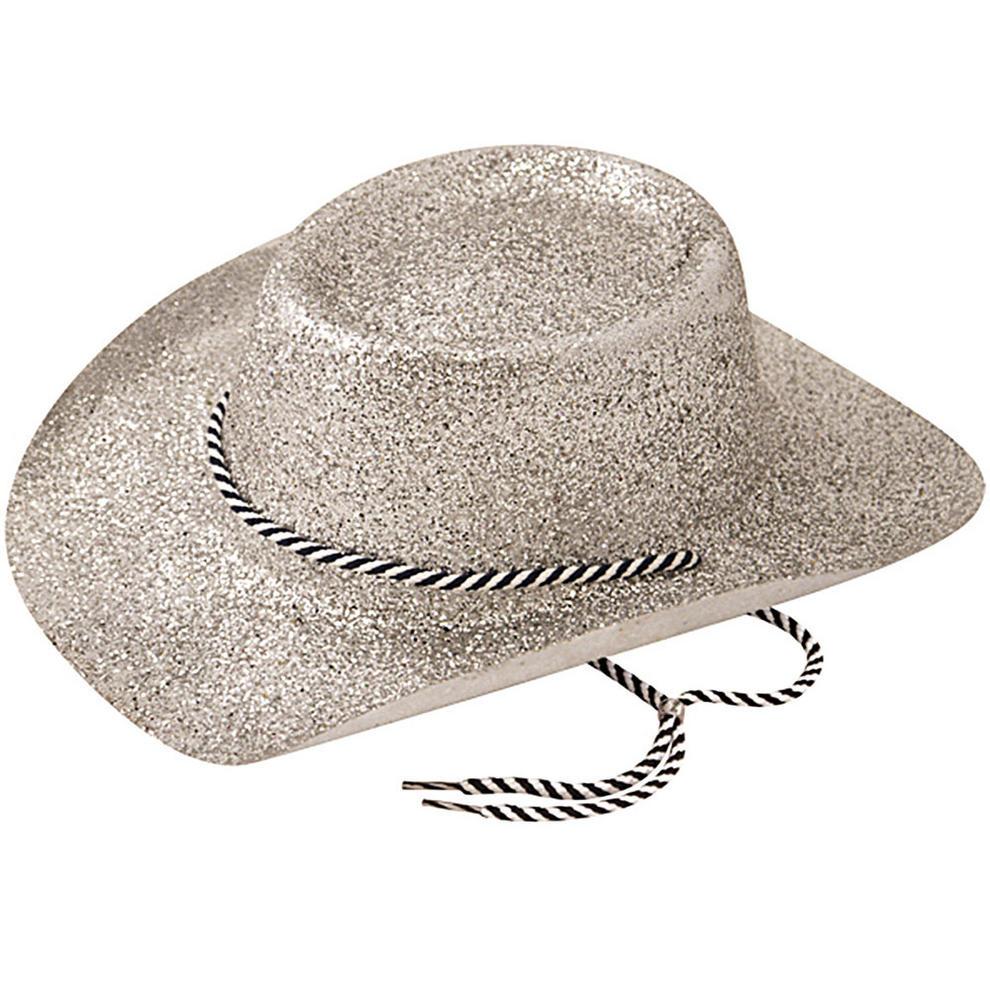 Cowboy Hat Glitter American Wild West & Indians Fancy Dress Accessory