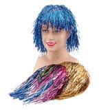 Ladies Tinsel Cyber Wig Space Sci-Fi Fancy Dress