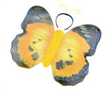 Yellow Butterfly Kit & Antennae Fancy Dress Up Kit Caterpillar Bug Insect Outfit