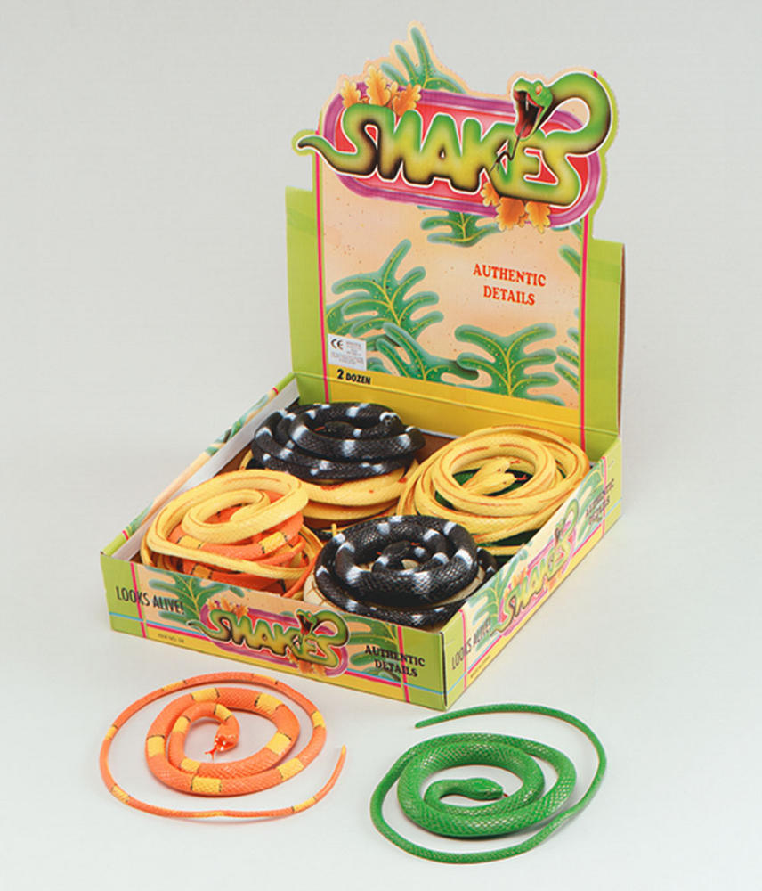 """Snakes 42"""" Colourful 6 Assorted Prop Serpant Animal Fancy Dress Party"""