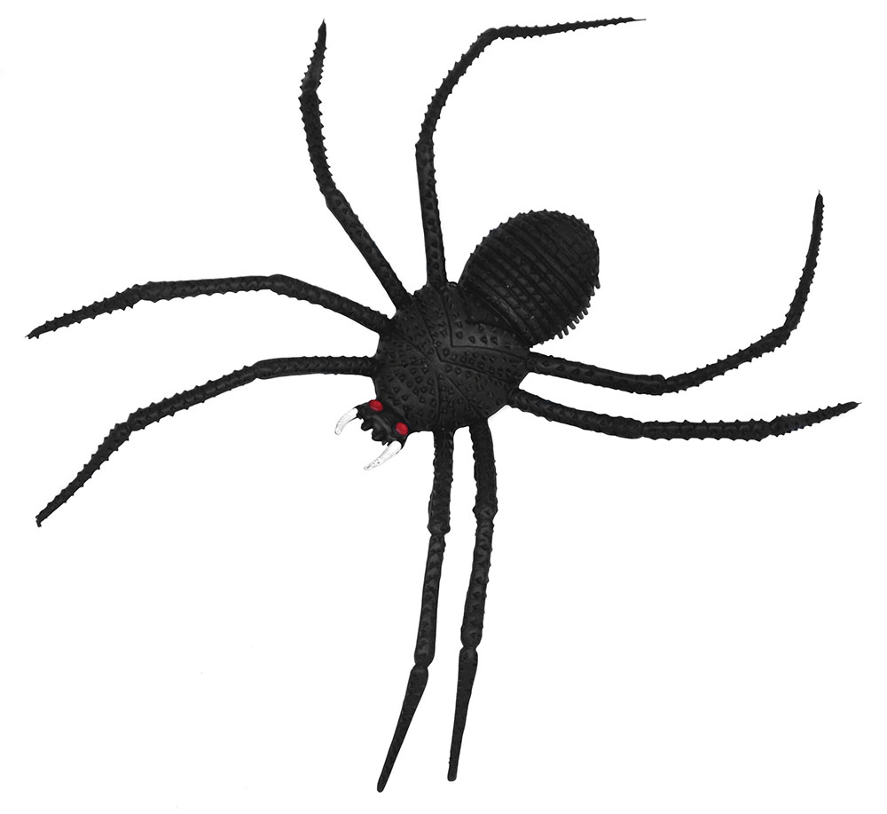 "Spiders Black 14"" Long Legged Prop Insects Creepy Crawlies Fancy Dress Party"