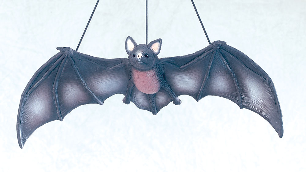 Bat Black Large Rubber Animal Prop Accessory for Halloween Animal Fancy Dress An