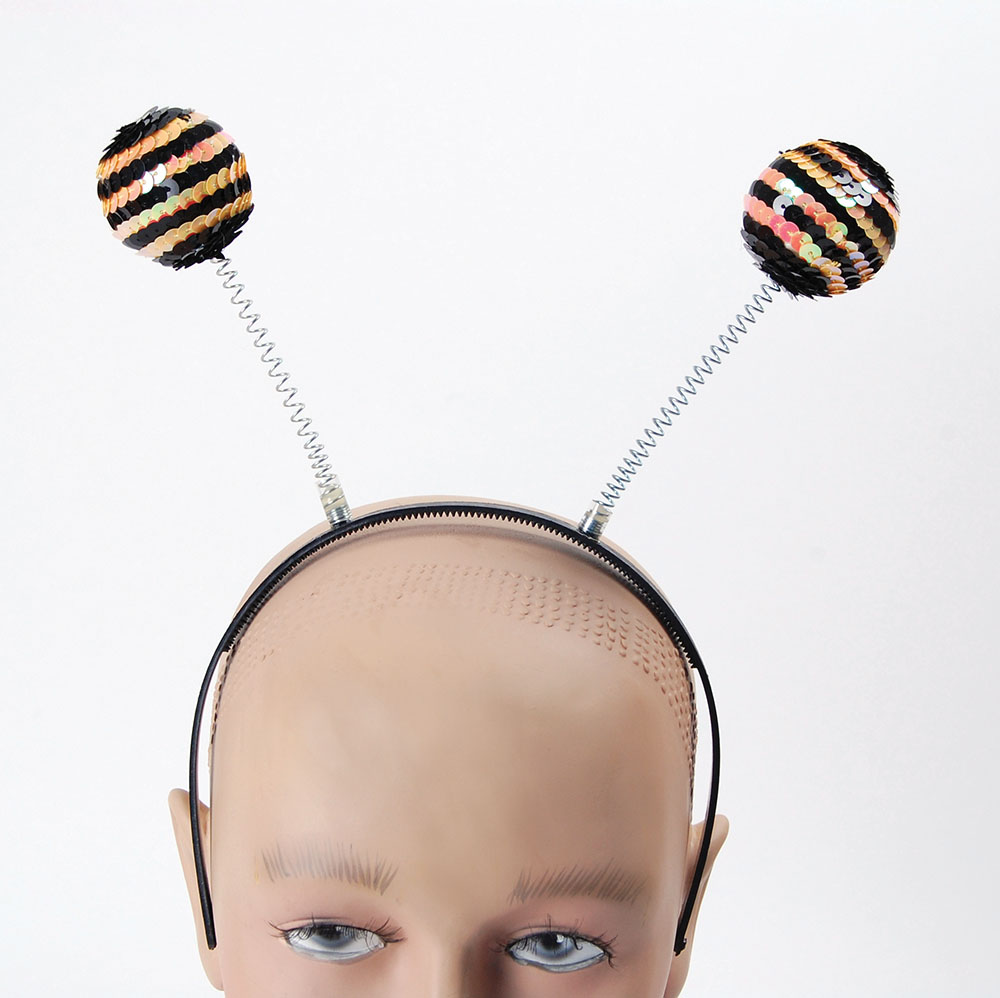 Bee Boppers Sequin Bumble Wasp Insect Fancy Dress Accessory