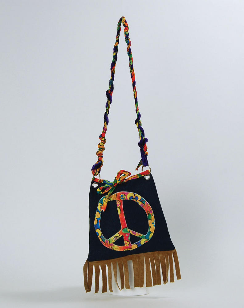 Hippy Handbag Hippie 60s 70s Mod Retro Vintage Classic Fancy Dress Party