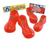 Clown Shoes PVC Red Adult Circus FunFair Parade Fancy Dress