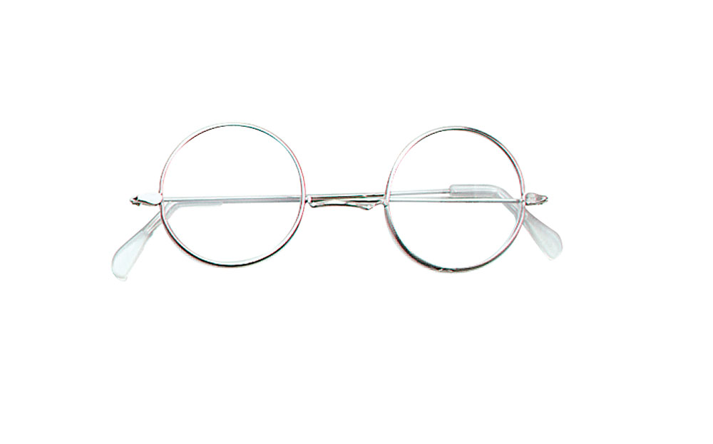 Granny Specs Round Iron Elderly Nan Nanny Grandmother OAP Fancy Dress Accessory