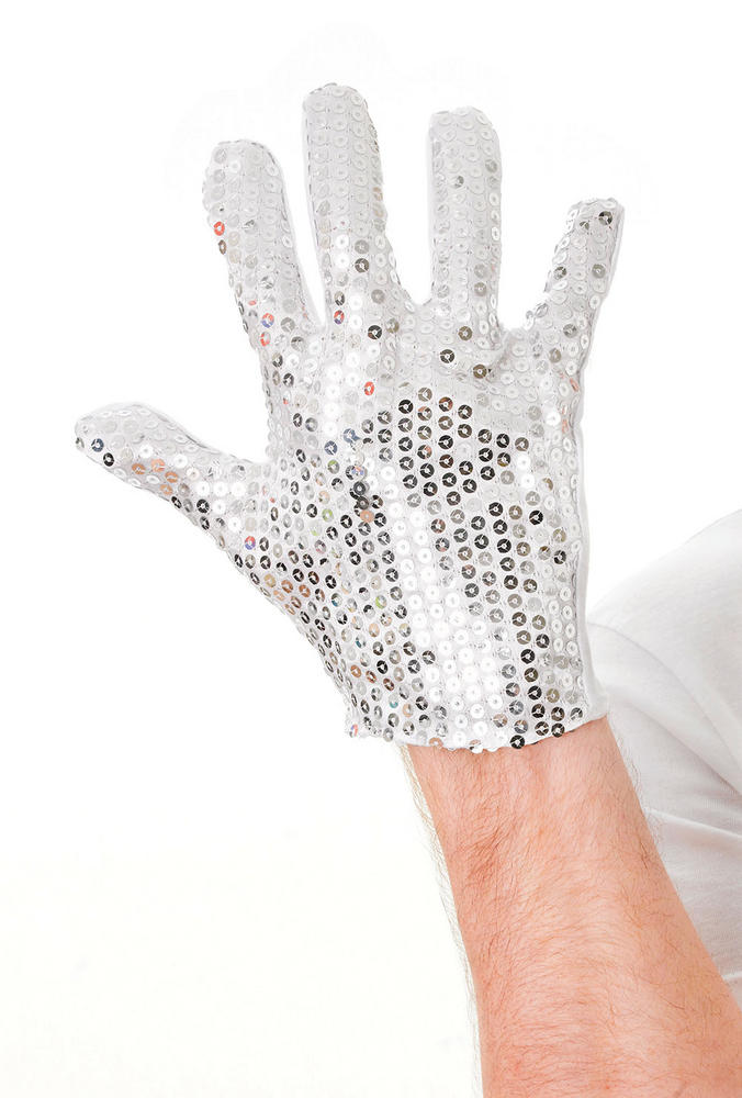80s Sequin Glove 80s Disco Pop Retro Fancy Dress Accessory
