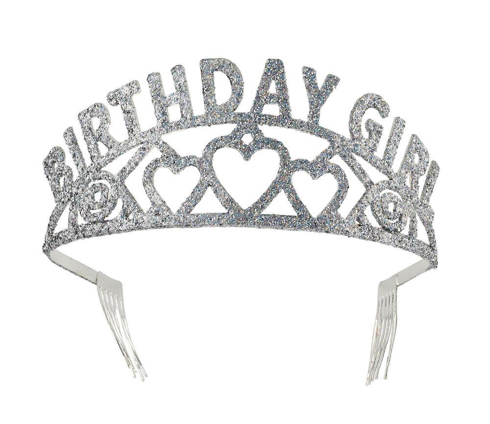 Tiara Birthday Girl Glitter Princess Fairy Queen Fancy Dress Accessory
