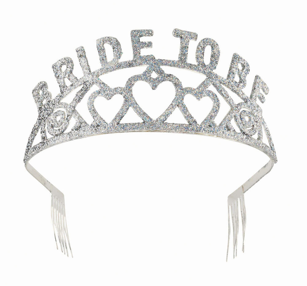 Tiara Bride To Be Glitter Princess Fairy Queen Fancy Dress Accessory