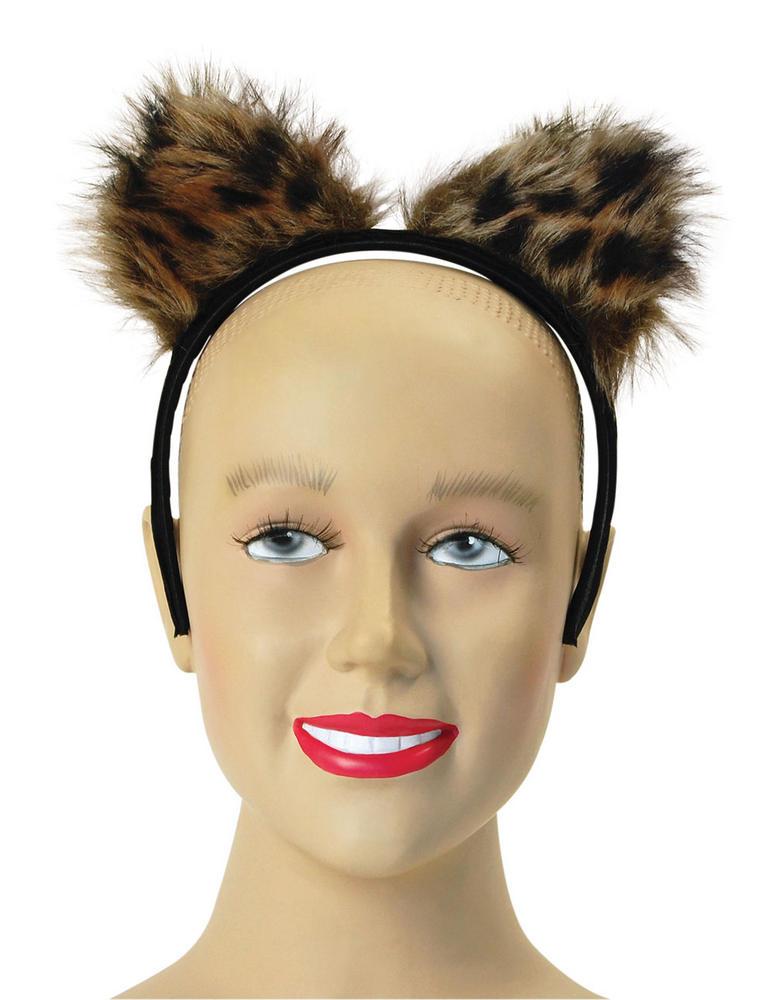 Feline Fantasy Ears Cat Pet Animal Lion Tiger Panther Fancy Dress
