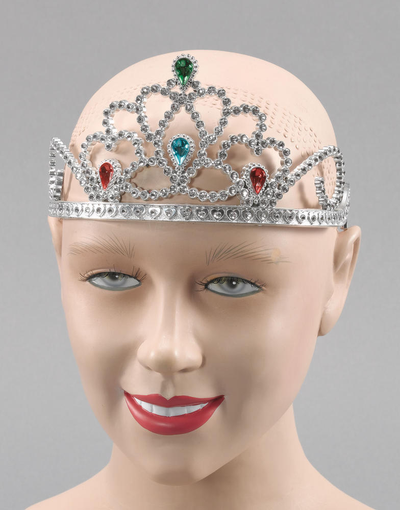 Silver Plastic Tiara/Paint Stones Hat tiara for Priness Crown Fancy Dress Hat ti