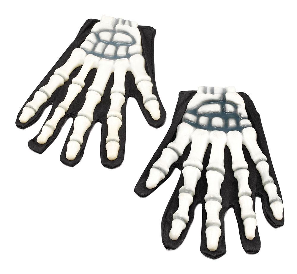 Halloween Gloves Skeleton/Rubber Fingers Trick Or Treat Fancy Dress Accessory