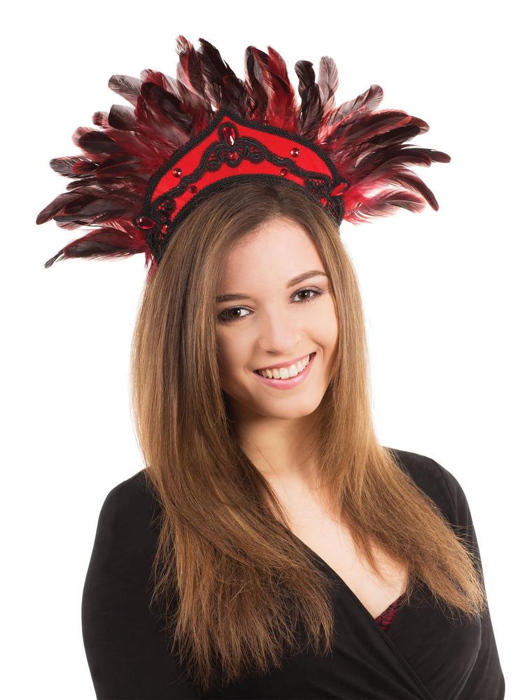 Carnival Headdress Black Circus Parade Clown Fancy Dress Accessory