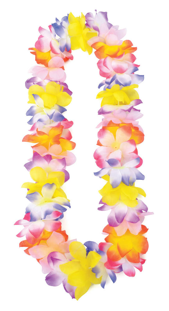 Hawaiian Leis (Big Flowers) Hawaii Tropical Beach Magnum Fancy Dress Accessory