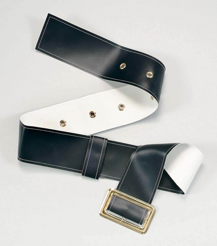 Belt Deluxe Wide Big Buckle Belt Accessory for Santa Claus Fancy Dress Belt