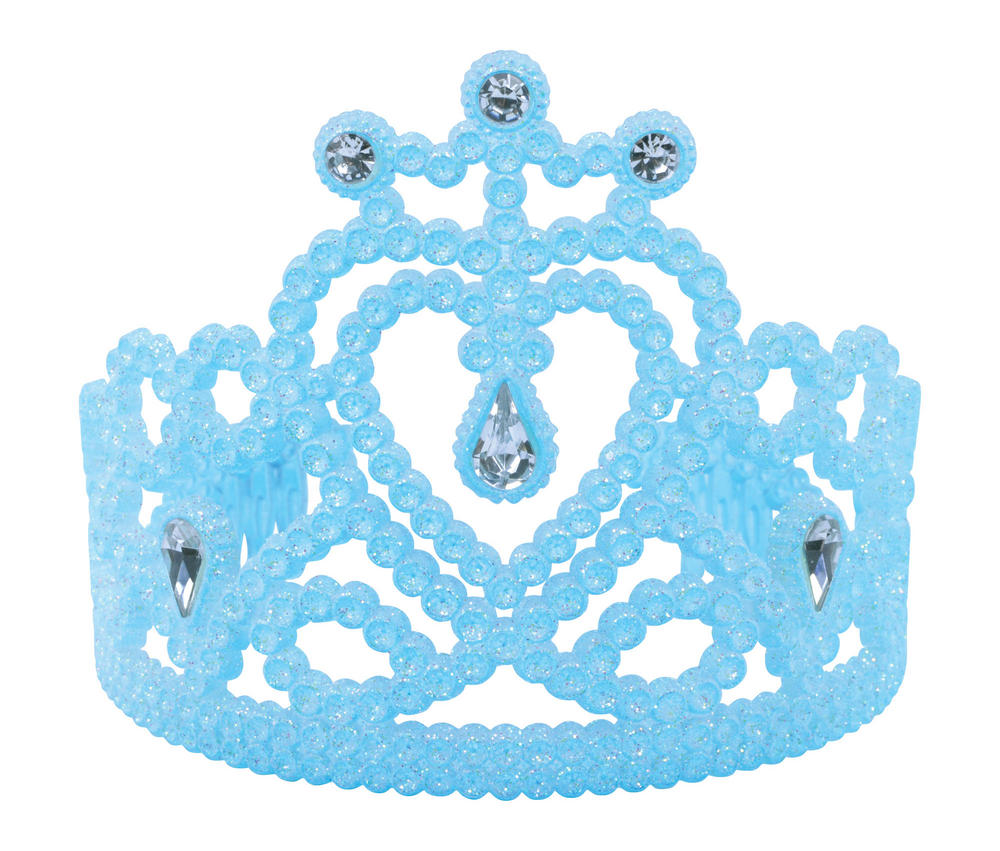 Heart Tiara Blue with Gems Valentines Love Romance Fancy Dress Accessory