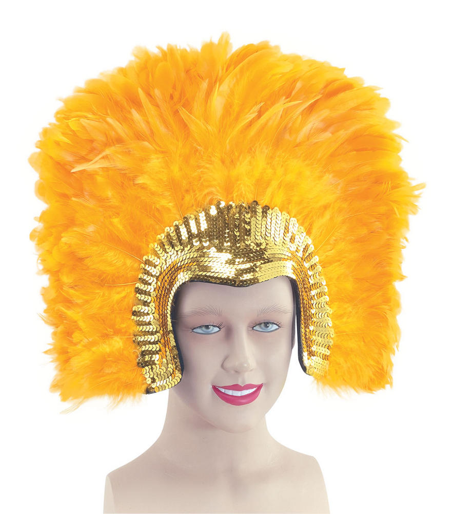 Carnival Feather Headdress Circus Parade Clown Fancy Dress Accessory