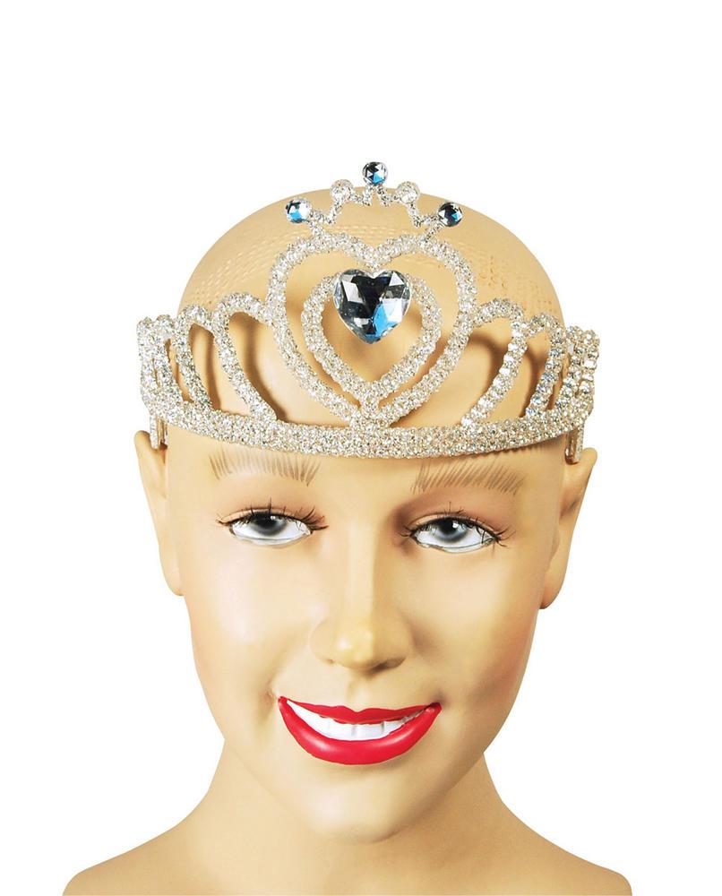 Tiara White Glitter Princess Fairy Queen Fancy Dress Accessory