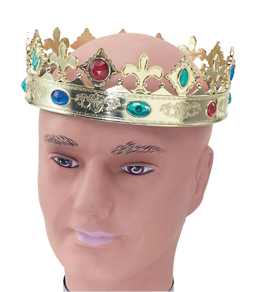Regal Crown Royal Regency Fairytale Ruler Fancy Dress Accessory