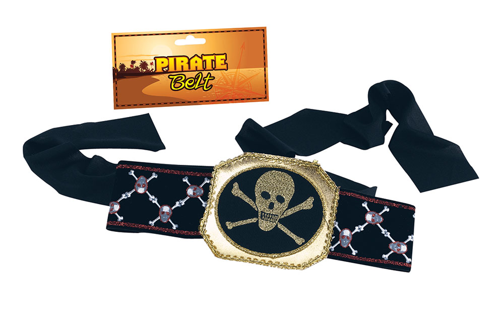 Pirate Belt Deluxe for Buccaneer Sailor Jack Blackbeard Fancy Dress Accessory