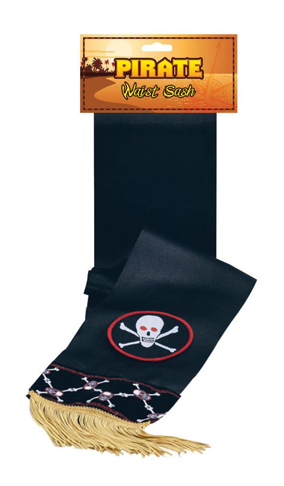 Pirate Waist Sash Deluxe  Buccaneer Sailor Jack Blackbeard Fancy Dress Accessory