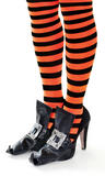 Witch Shoe Covers & Silver Buckles Halloween Oz Eastwick Fancy Dress
