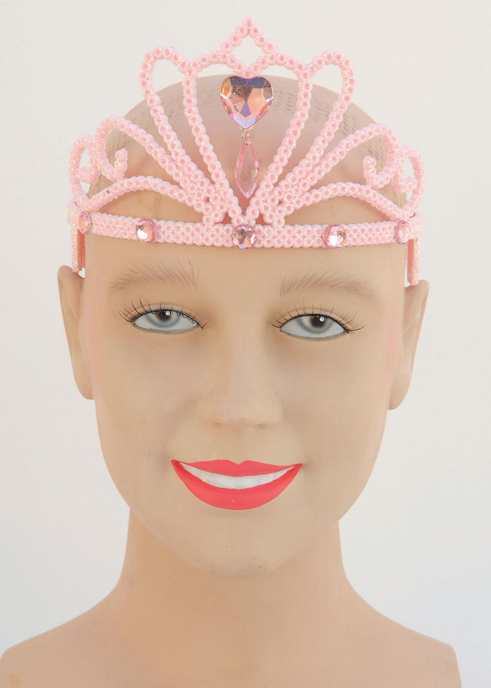 Pink Glitter Tiara & Stone Princess Fairy Queen Cosmetic Artist