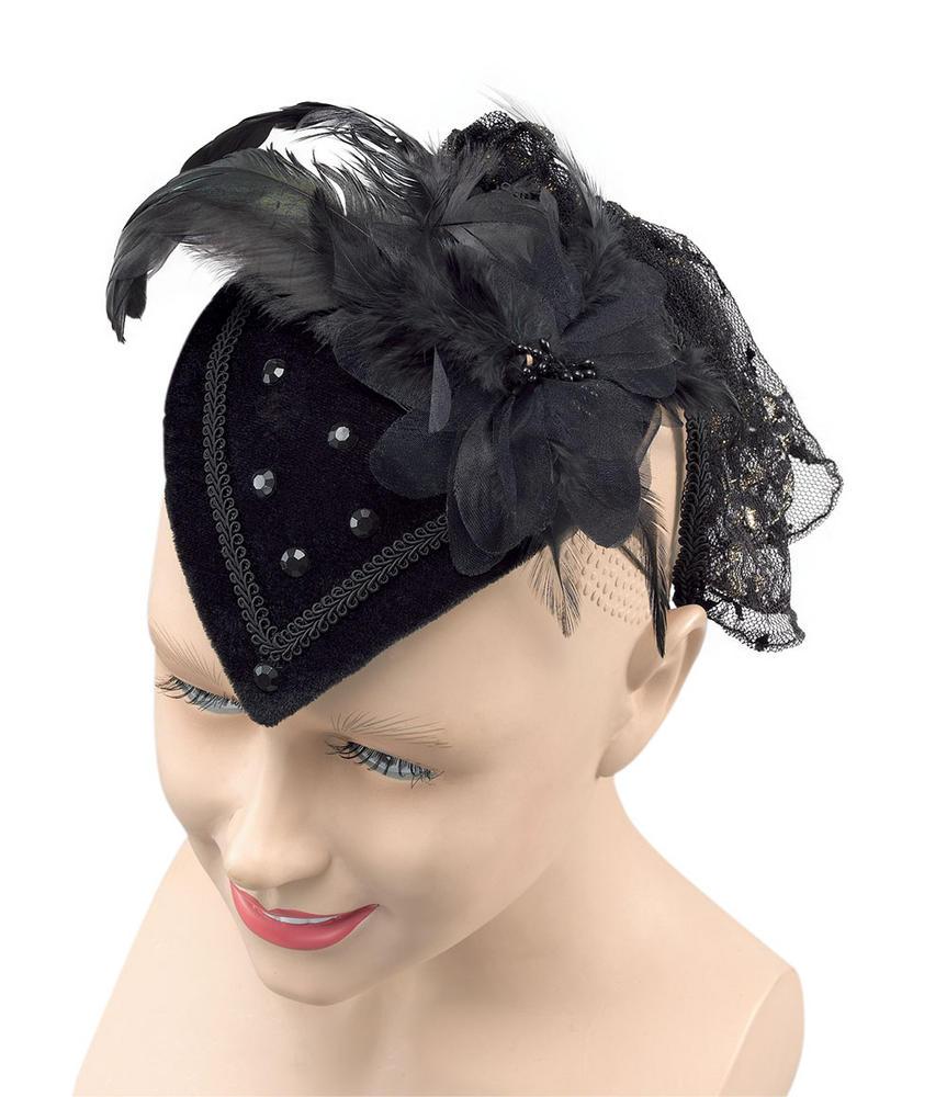 Teardrop Hat Black Riding Hat Fairytale Nursery Rhyme Fancy Dress Accessory