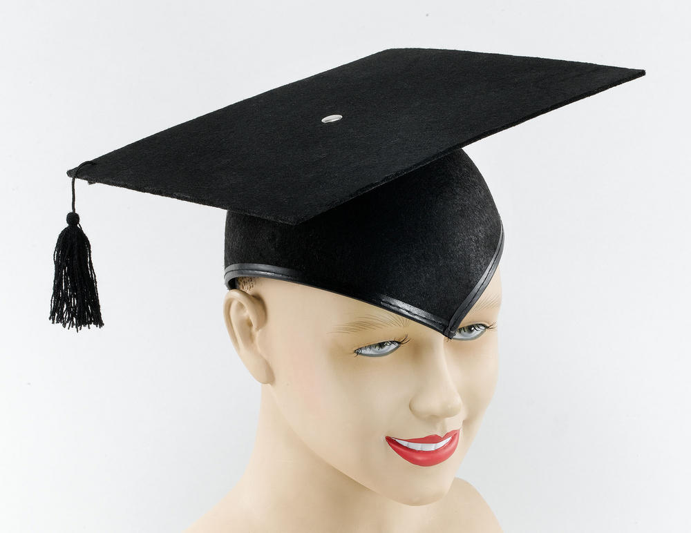 Mortar Board Hat Felt Budget School Teacher Graduate Fancy Dress Accessory