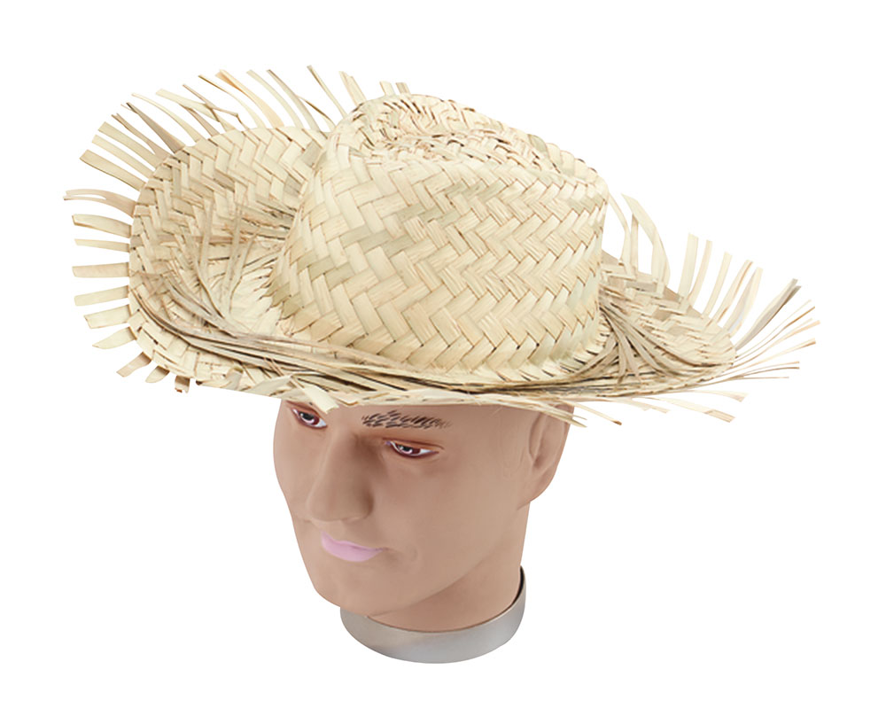 Beachcomber Mens Straw Hat Tropical Summer Fancy Dress Accessory