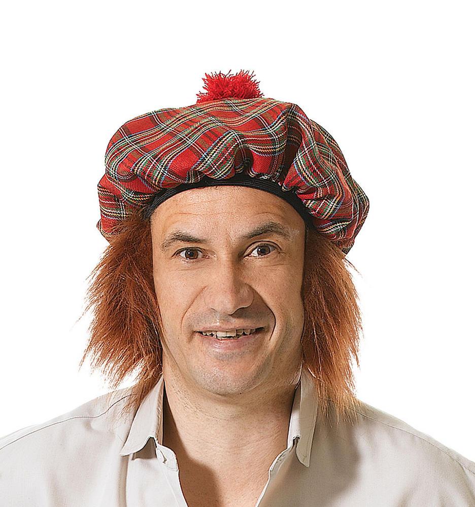 Scots Tartan Hat /Ginger Hair Scottish Scot Scotland Highland Fancy Dress