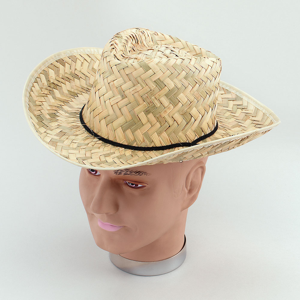 Straw Stetson Dallas Cowboy Fancy Dress Accessory