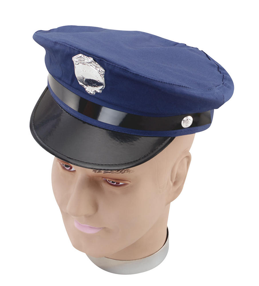 New York Police Hat Cop Policeman Copper Bobby Fancy Dress Accessory