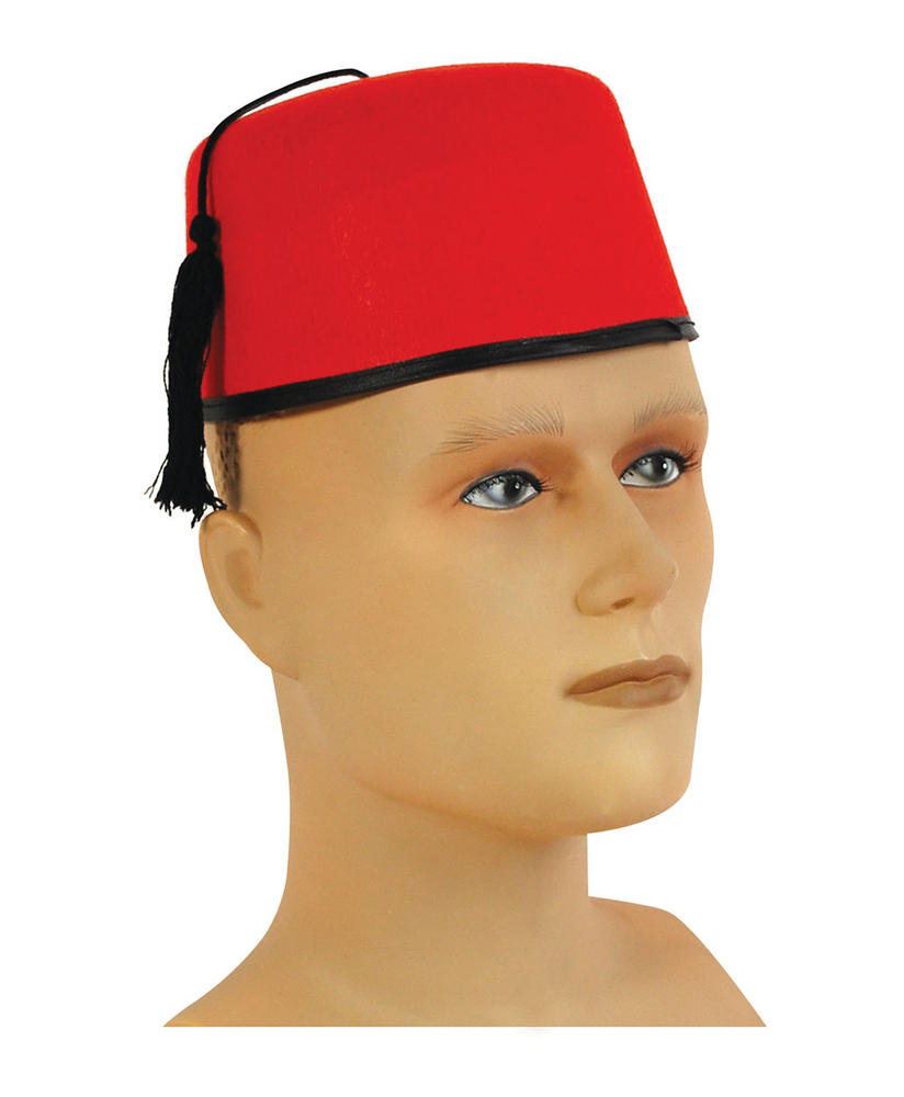 Fez Felt Hat Egyptian Moroccan Magician Hat Fancy Dress Accessory