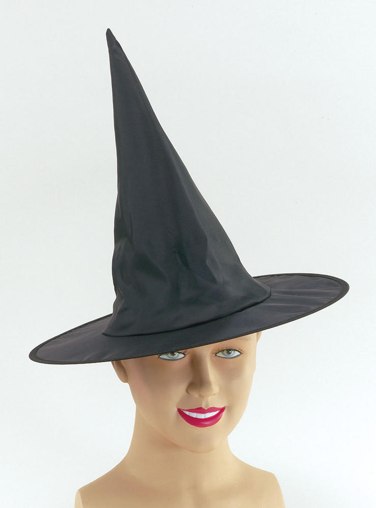 Witch Hat Satin Child size Halloween Oz Eastwick Fancy Dress Accessory
