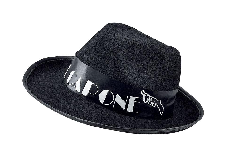 Al Capone Budget Black Felt Hat Gangster 20s 30s Mob Al Fancy Dress Accessory