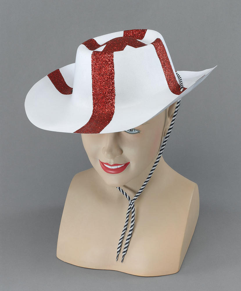St George Flock Cowboy Hat American Wild West & Indians Fancy Dress Accessory