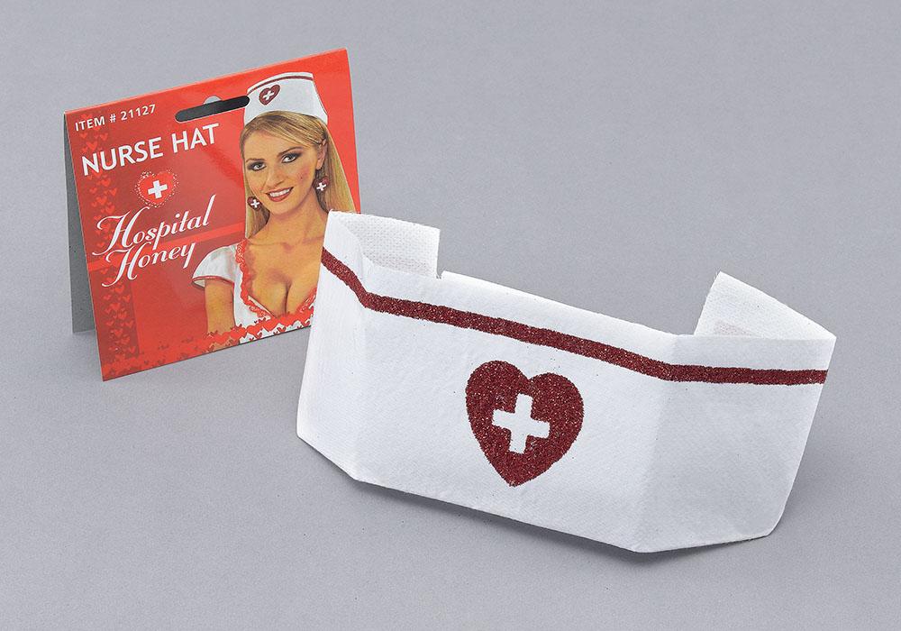 Nurse Hat Hospital Carry On Surgeon Fancy Dress Accessory