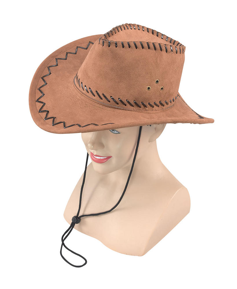 Cowboy Hat Leather American Wild West & Indians Fancy Dress Accessory