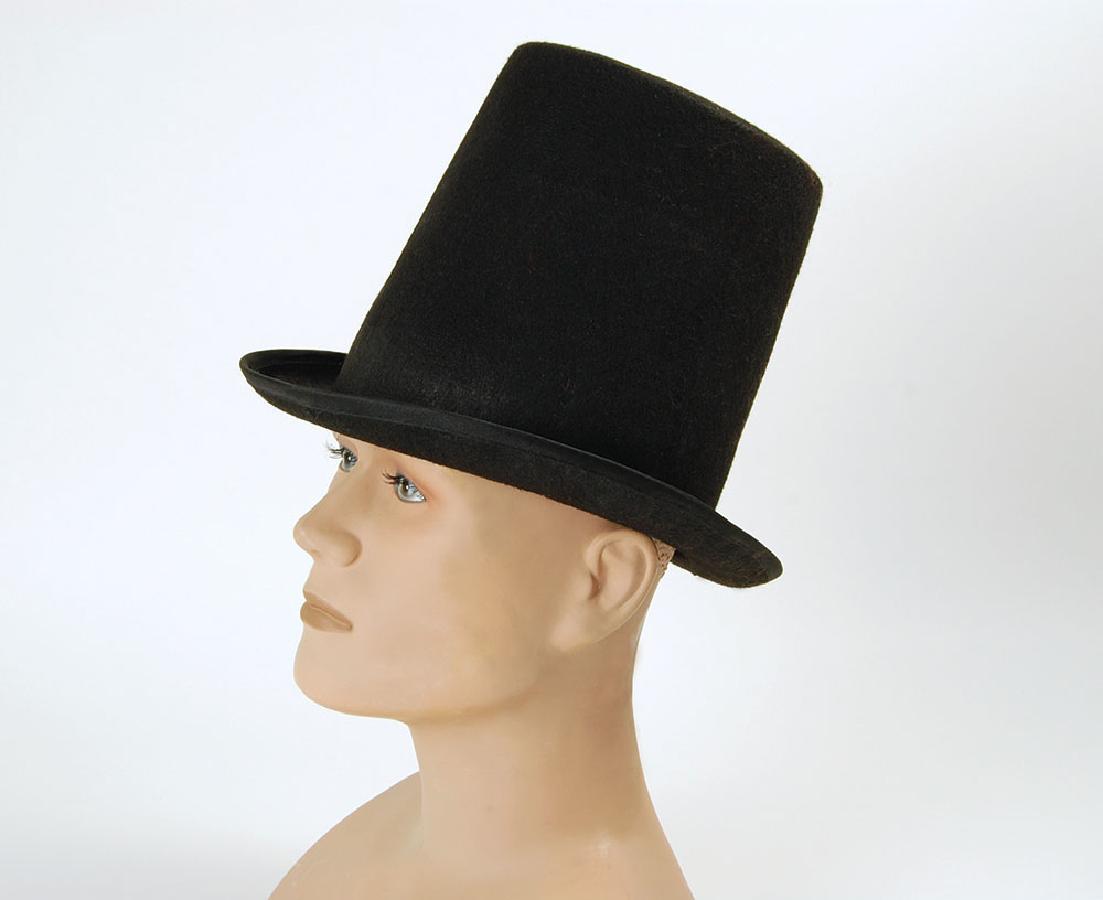 Stovepipe Top Hat Budget Dickensian Victorian Historic Fancy Dress Accessory